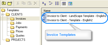 Templates Window for Translation Agencies