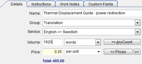TO3000 - Translation Job Details