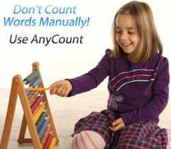 Don't count words manually!